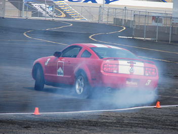 Mustang Smoking Tires