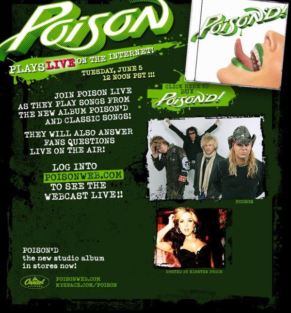 Poison Webcast