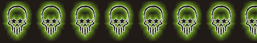 7.5 Glowing Green Skulls Out of 10