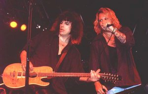 Jamie Hunting and Vince Neil