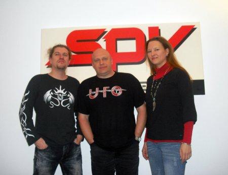 Lanvall (guitarist Edenbridge), Olly Hahn (A&R Steamhammer), Sabine Edelsbacher (singer Edenbridge)